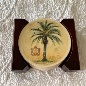 🌴Palm Tree🌴 Coasters with holder